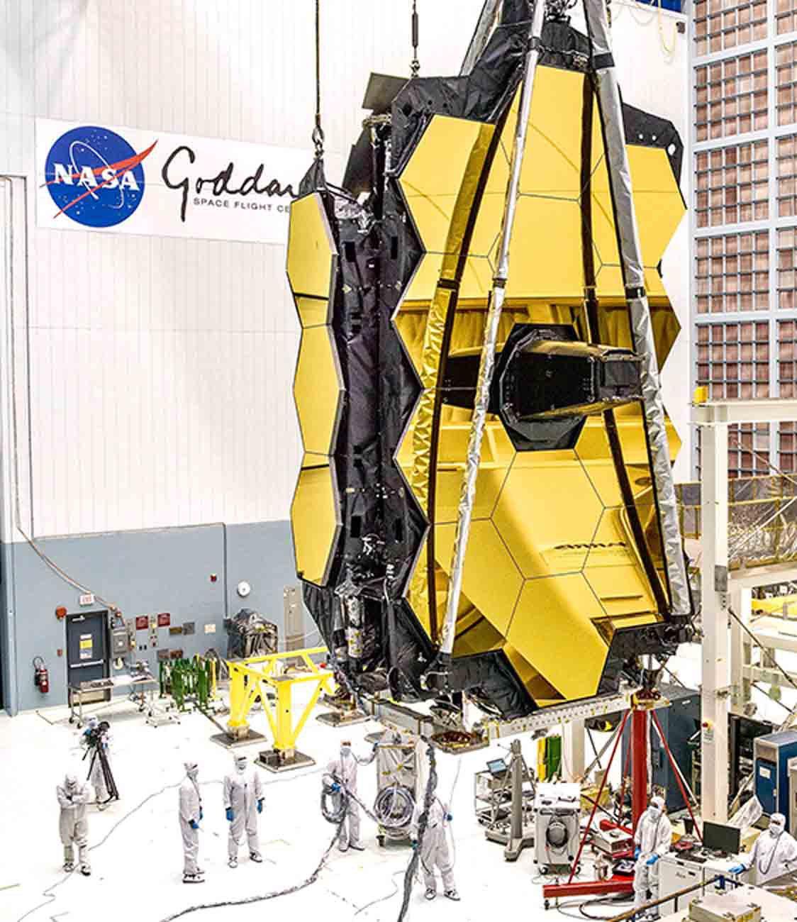 James Webb telescope folded