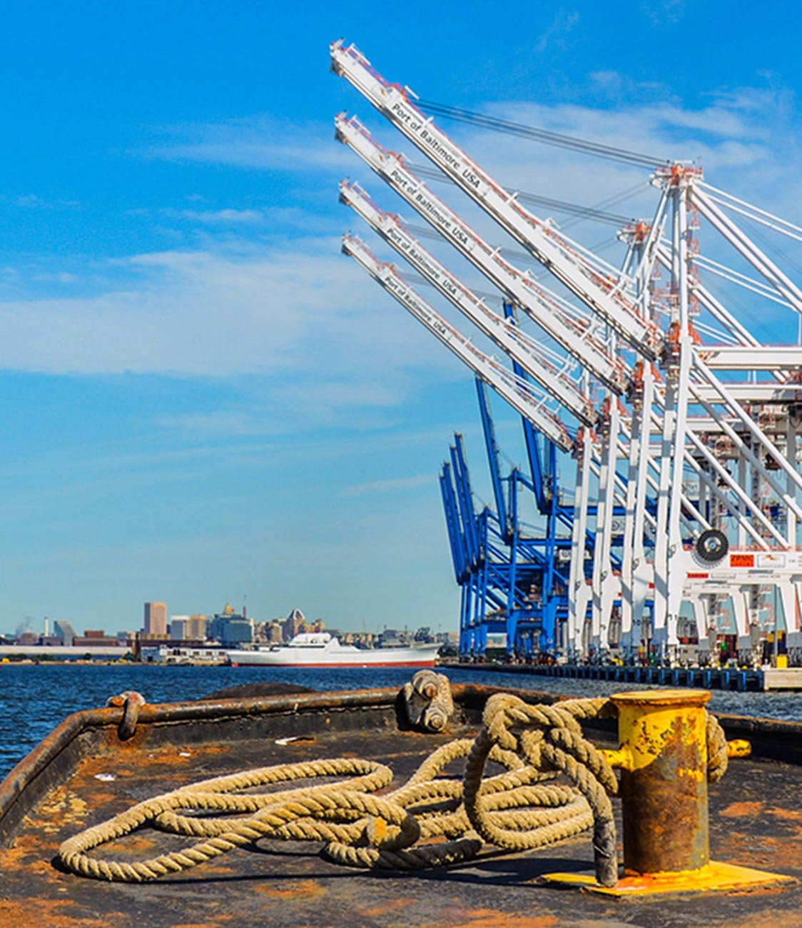 Cranes at Port of Baltimore